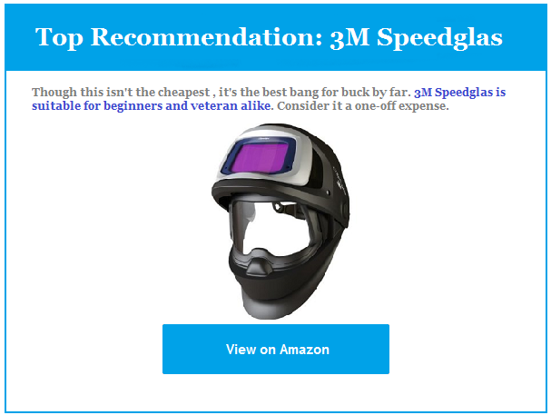 Top Recommendation welding helmet Review