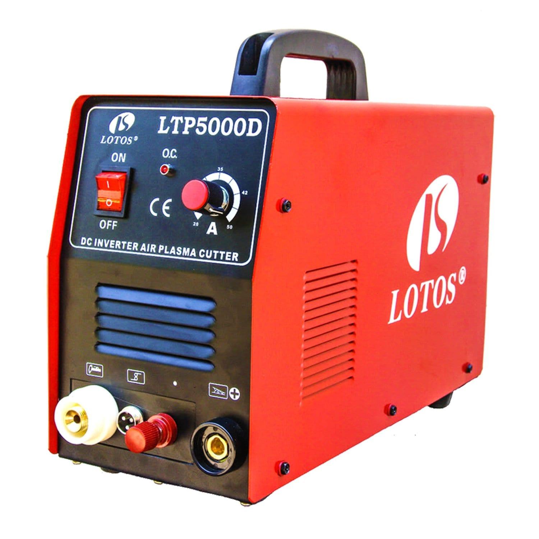 Lotos LTP5000D 50Amp Non-Touch Pilot Arc Plasma Cutter, 1-2 Inch Clean Cut Review