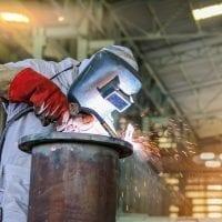 welding steel pipe mig